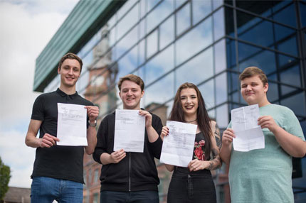 Our A level students receiving their results