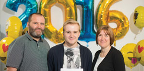 Conor Butler with his parents