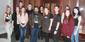 Picture of our Theatre and Performance students