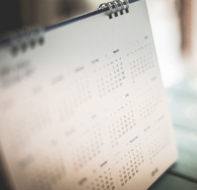 Picture of a calendar.